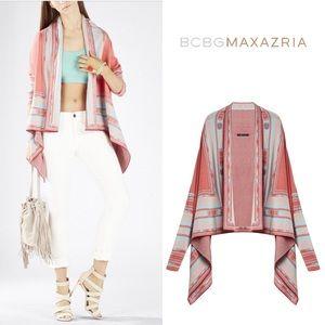 BCBG Pink Vicci Jacquard Cardigan Wrap Size XS/S